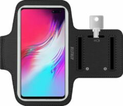 Athletix® Athletix Hardloop Armband - smartphone houder - zwart - verstelbaar