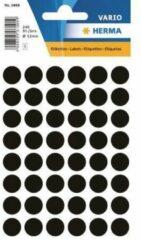 HERMA Multi-purpose labels ø 12mm black 240 pcs etiket 240 stuk(s)