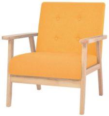 VidaXL Fauteuil stof geel