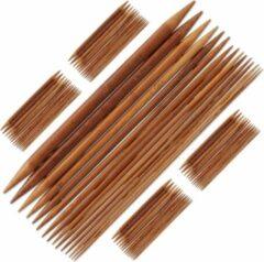 Relaxdays breinaalden set - 75 stuks - sokken breinaald - 2 tot 10 mm - bamboe naalden