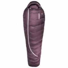 Donkerrode Grüezi Bag - Women's Biopod Downwool Subzero 175 - Donzen slaapzak maat 175 cm - 200 x 77 x 50 cm, berry