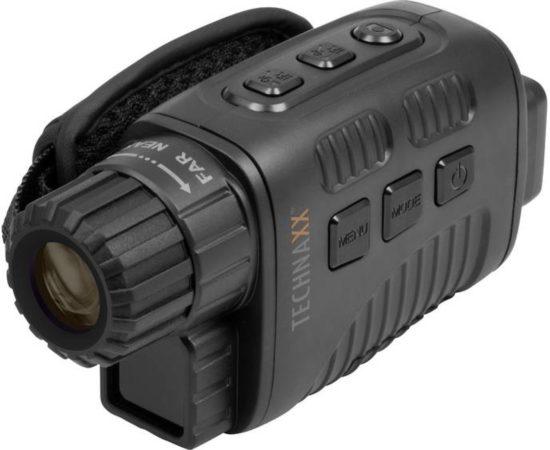 Afbeelding van Zwarte Technaxx nachtzichtcamera TX-141 foto- en videocamera 960p (1280x960) met nachtzicht tot 300 meter en display