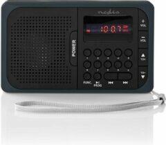 Nedis RDFM2100GY Fm-radio 3,6 W Usb-poort & Microsd-kaartsleuf Zwart / Grijs