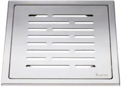 Roestvrijstalen Afvoerrooster Smedbo Outline Met Lijnen Patroon 20 x 20 x 0.55 cm RVS