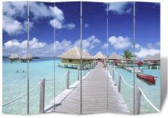 VidaXL Kamerverdeler inklapbaar strand 240x170 cm