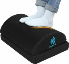 Zwarte Nava® Verstelbare voetenbank | Ergonomische voeten steun voor verbeterde zithouding achter bureau | Verstelbare voetsteun onder bureau | Voeten kussen ondersteunen schuimkussen halve cilinder voor kantoor thuis reis