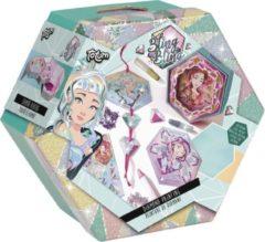 Fuchsia Totum Bling Bling Diamond painting - diamond painting kaarten maken in luxe bewaarverpakking