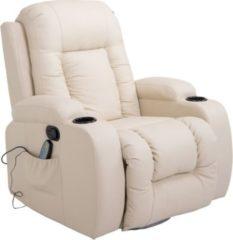 TV Sessel mit Wärmefunktion HOMCOM creme