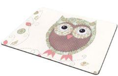 Paarse Leukste Winkeltje Muismat Uil / Uilen - met textiel toplaag 22 x 18 cm - LeuksteWinkeltje