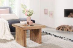 Wohnling Beistelltisch MUMBAI Massiv-Holz Akazie 60 x 60 cm Wohnzimmer-Tisch Design dunkel-braun Landhaus-Stil Couchtisch