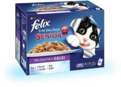 Felix Multipack Pouch Senior Elke Dag Feest - Kattenvoer - Mix 12x100 g - Kattenvoer