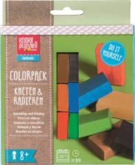 Brunnen boetseerklei-gum junior Colorpack Basic 6-delig