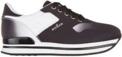 Nero Hogan Scarpe sneakers donna h222 tomaia costruita