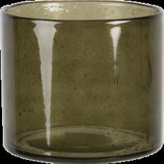Clayre & Eef Waxinelichthouder ø 13*15 cm groen - 6GL3025 - Clayre & Eef