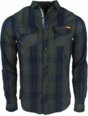 Deeluxe - Heren Overhemd met 2 borstzakjes - Gestreept - Model Tilburg - Groen