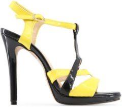 Zilveren Made in Italia - Sandalen - Vrouw - IOLANDA - black,yellow