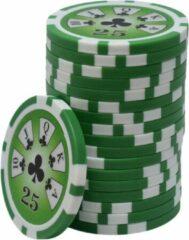 Blauwe Mec Royal Flush ABS Chips 25 groen (25 stuks)