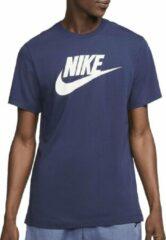 Marineblauwe Nike Sportswear Icon Futura Heren T-Shirt - Maat M