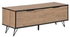 Beliani HALSTON - TV-meubel - Lichte houtkleur - Spaanplaat