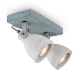 Home sweet home LED opbouwspot Vedi 2 lichts ↔ 23 cm - betongrijs