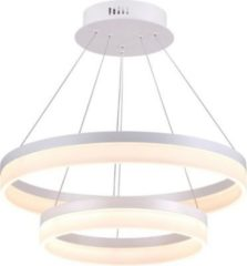 LED Pendelleuchte Vivo Circle 2 Ø 60cm 102W 3000K Alu mattweiß Kiom 10699