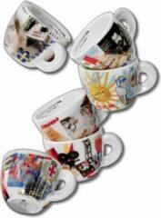 Porcellane d'ancap ANCAP Espresso kopjes Bella Italia set van 6