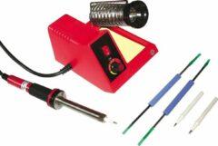 McPower MLS-58 - Soldeerstation met regelbare temperatuur - Starter Set met tools en extra soldeerpunten - 150~480 °C - 58 Watt - Geschikt voor loodvrij solderen!