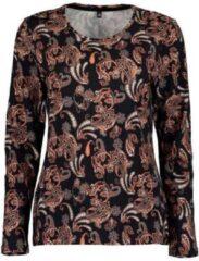 Blue Seven dames shirt LM zwart print - maat 40