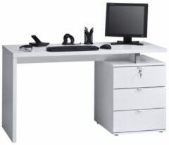 Bermeo Computer Bureau Abby - Wit met Hoogglans wit