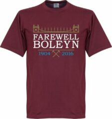 Bordeauxrode Retake West Ham United Farewell Boleyn Stadium T-Shirt - M