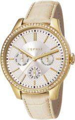 Creme witte Esprit outlet Esprit ES107132003 Horloge - Crème - stalen band