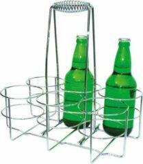 Roestvrijstalen Merkloos / Sans marque Flessendrager t.b.v. 6 flessen