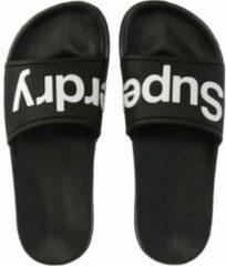 Zwarte Superdry Eva Pool Slide Dames Slippers - Black - Maat 36/37