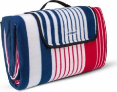 Sens Design XL Picknickkleed - 200x200 cm - Waterdicht buitenkleed - Blauw/Rood