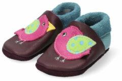 """Pololo Kruipschoentjes """"Vogel"""", lila/lichtblauw 24/25 - voetlengte 13,8-14 cm"""