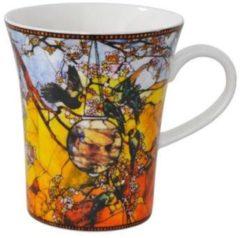 Louis Comfort Tiffany Parkieten- Koffiekopje - Glazen