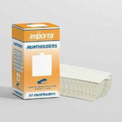 Witte Importa Munthouders om te nieten zonder venster - 50 stuks