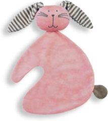 Babydingetjes Knuffeldoekje Konijn knuf roze - Funnies