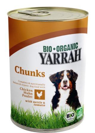 Afbeelding van Yarrah Biologische Hondenvoer - Brokjes In Saus Kip Met Brandnetel En Tomaat - 405 gr