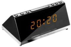 NAFNAF Morning V2 Design Radiowecker in schwarz mit 2 Alarmzeiten