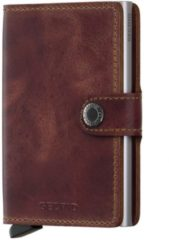 Bruine Secrid Mini Wallet Portemonnee brown vintage leather