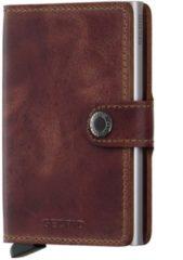 Bruine Secrid Mini Wallet Portemonnee brown vintage leather