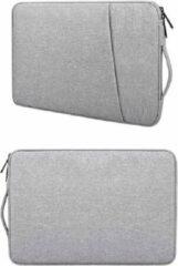 Ntech MacBook Air 13,3 2018 / 2019 / 2020 Inch Hoes - Sleeve Spatwater proof hoesje met handvat & ruimte voor accessoires Grijs