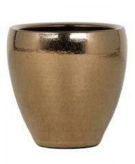 Ter Steege Amora Gold pot 21x21x21 cm gouden bloempot voor binnen