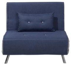 Beliani FARRIS Slaapbank Blauw Polyester 191x100