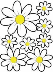 Gele Avisa Aufkleberbogen Flowers - weiß - 24,5x32,5cm