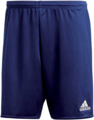 Donkerblauwe Adidas Parma 16 Shorts Heren Sportbroekje - Dark Blue/White - Maat XL