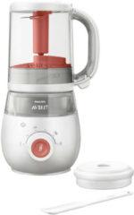 Rode Philips AVENT 4-in-1 gezonde babyvoedingmaker SCF881/01 babyvoedingbereider
