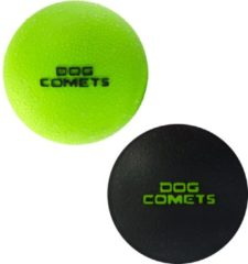Dog Comets Dog Comets Ball Stardust Medium - Hondenspeelgoed - Zwart&Groen