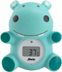Alecto BC-11 Badthermometer nijlpaard - Nauwkeurige meting badwater- en kamertemperatuur - Blauw